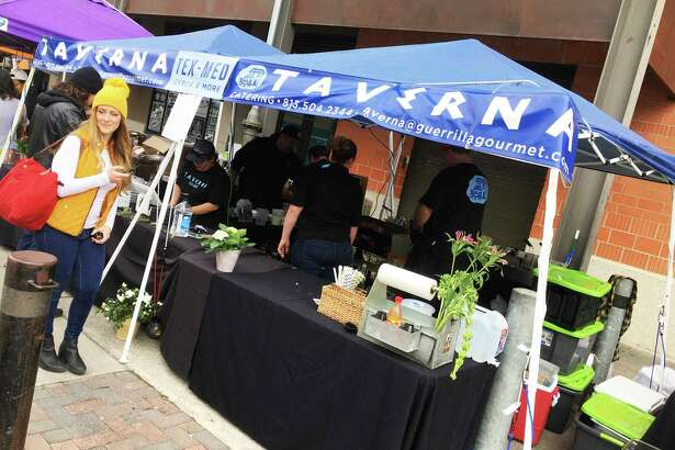Hot food vendors such as Taverna at the Pearl Farmers Market will be selling prepackaged food when the market returns June 6.
