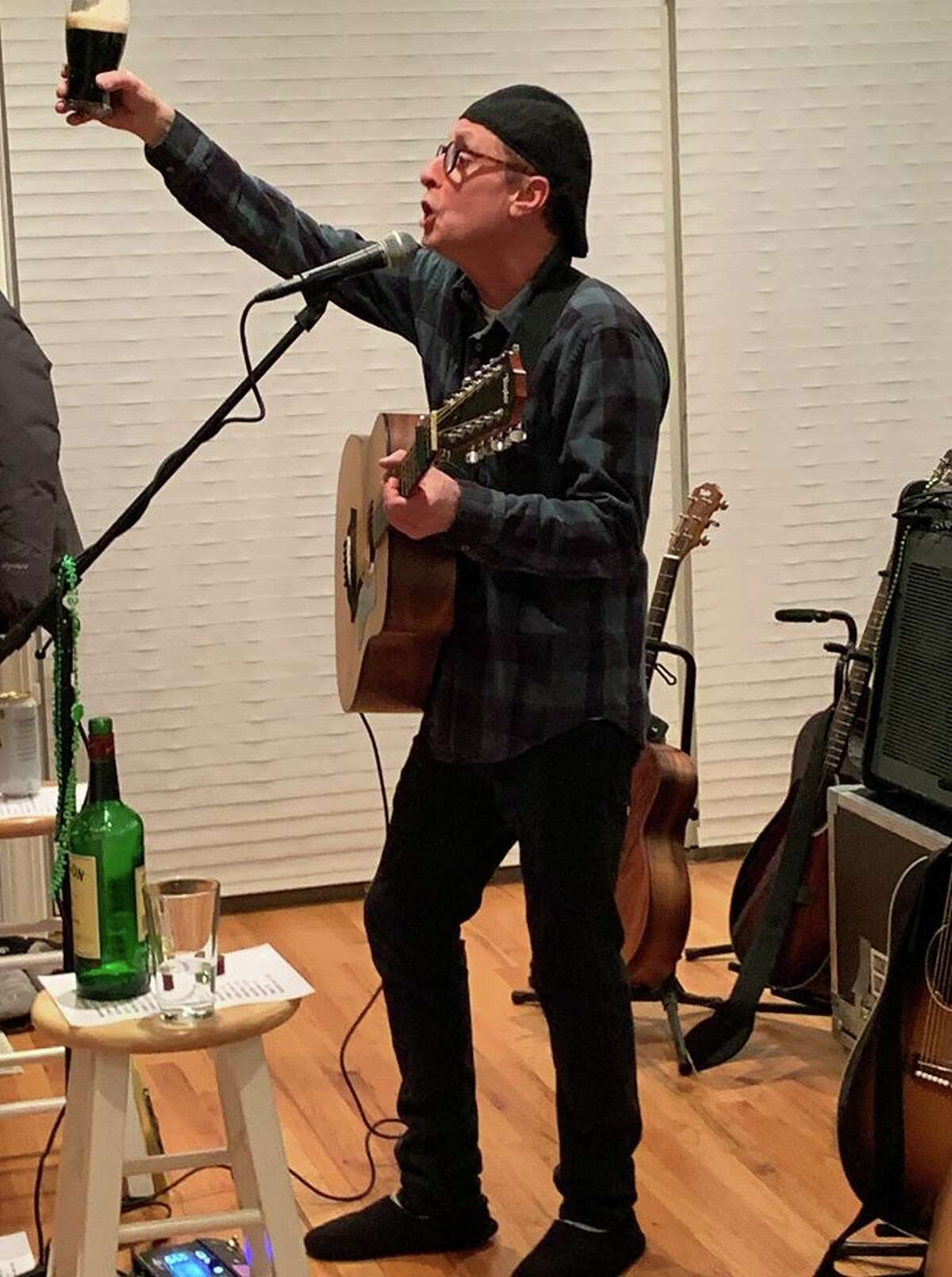 Singer-songwriter Rick Bedrosian, of Delmar, is hosting live, online performances as part of his weekly Home Alone Concert series, Saturday nights at 7 p.m. Bedrosian plays pop, folk, Irish music. Visit his website https://rickbedrosian.com/ or Facebook page to listen in: https://facebook.com/rickbedrosian Here Bedrosian hosts a live, virtual concert for fans on St. Patrick's Day.