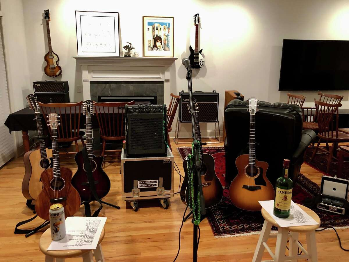 Singer-songwriter Rick Bedrosian, of Delmar, is hosting live, online performances as part of his weekly Home Alone Concert series, Saturday nights at 7 p.m. Visit his website https://rickbedrosian.com/ or Facebook page to listen in: https://facebook.com/rickbedrosian Here is his at-home concert space.