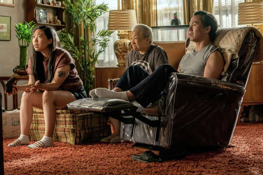 """From left, Nora (Awkwafina) lives at home with her grandmother (Lori Tan Chinn) and father (BD Wong) in """"Awkwafina Is Nora From Queens."""" MUST CREDIT: Zach Dilgard/Comedy Central Photo: Zach Dilgard / Comedy Central / Comedy Central"""