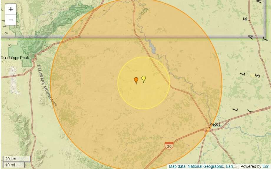 The USGS reported a second quake at 10:16 a.m. with a 5.0-magnitude about 26.72 miles west of Mentone. The second quake had a depth of 5.28 miles. Photo: Earthquaketrack.com