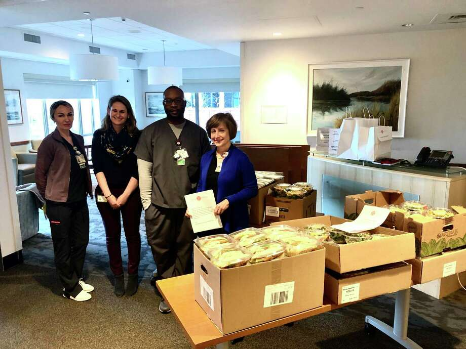Darien's Nolen Lane neighbors donated enough to send 150 meals to Stamford Hospital from Four Forks. Photo: Four Forks