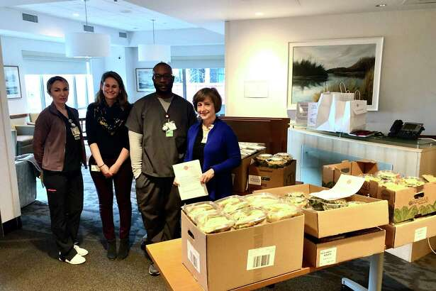 Darien's Nolen Lane neighbors donated enough to send 150 meals to Stamford Hospital from Four Forks.