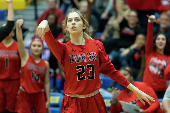 Langham Creek High School junior Kaley Perkins (No. 23) was named the District 14-6A girls basketball MVP.
