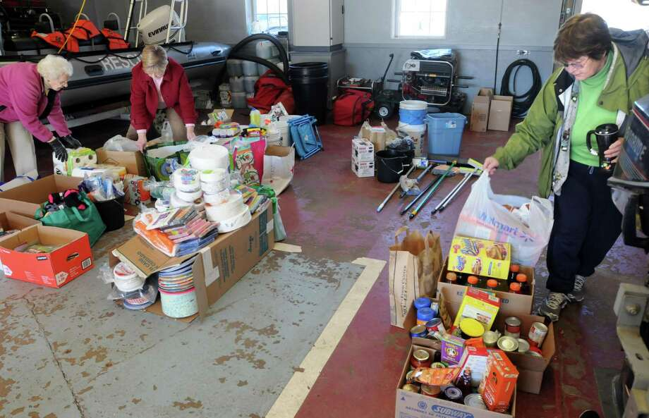 Donations of food, clothing and other needs after a recent natural disaster. Photo: File Photo