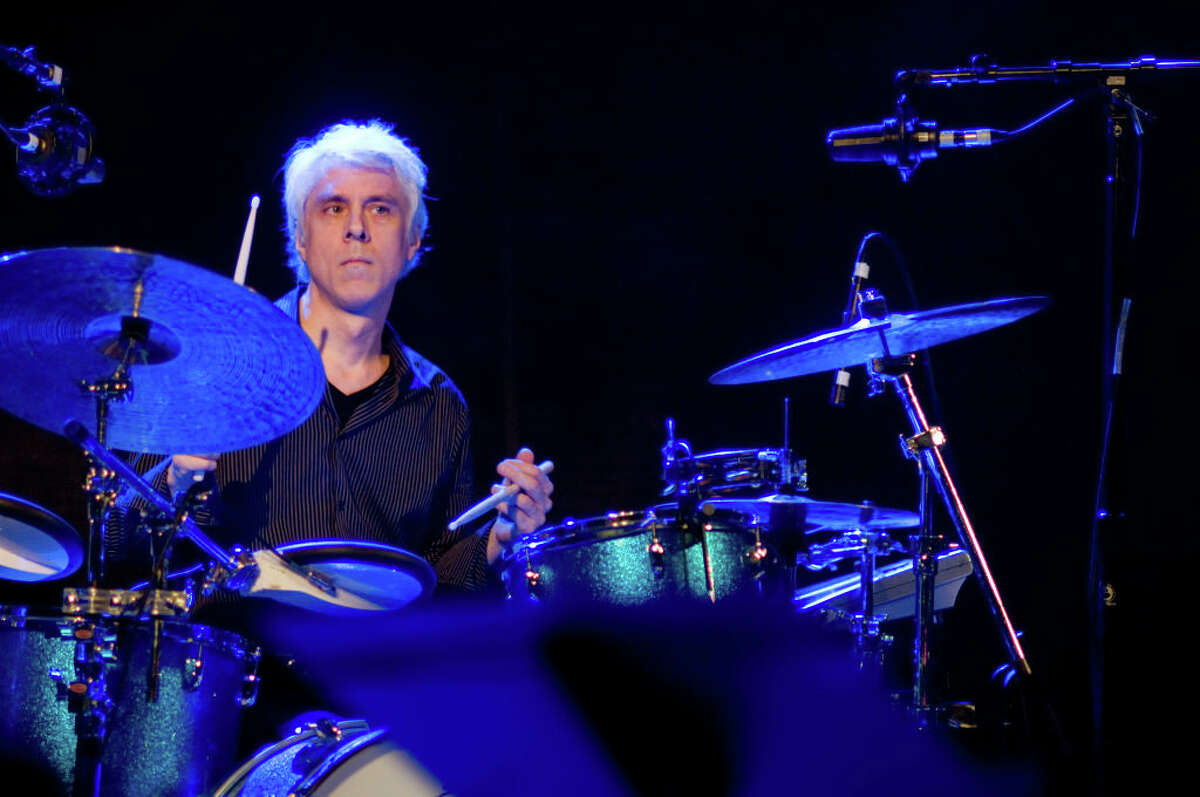 Touring drummer Bill Rieflin of REM performing at the SXSW (South by SouthWest) Music Conference at Stubb's in Austin, Texas on March 12, 2008. (Photo by Ebet Roberts/Redferns)