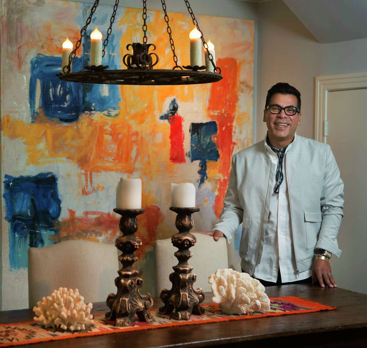 Jay Landa, owner of Jay Landa Jewelry in Rice Village, photographed at his home, Sunday, Oct. 23, 2016, in Houston.