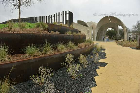 Native grasses fill Confluence Park. The 3.5-acre park, a project led by the San Antonio River Foundation, is south of downtown at 310 W. Mitchell St., where San Pedro Creek connects to the river just northwest of Mission Concepción.