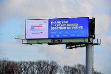 A billboard proclaiming the 2019 fundraising total of Fairfield County's Giving Day. With the U.S. Treasury gearing up to send stimulus checks in April 2020 for households with less than $150,000 in joint income, those feeling relatively financially secure could pay those amounts forward to those in need.