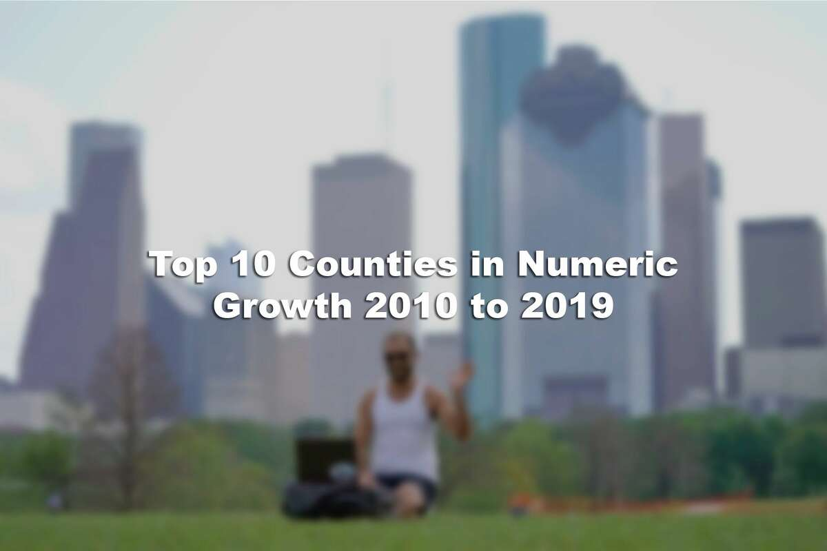 Scroll below for the Texas counties ranked among the Top 10 in the nation for numeric population growth from 2010 to 2019.