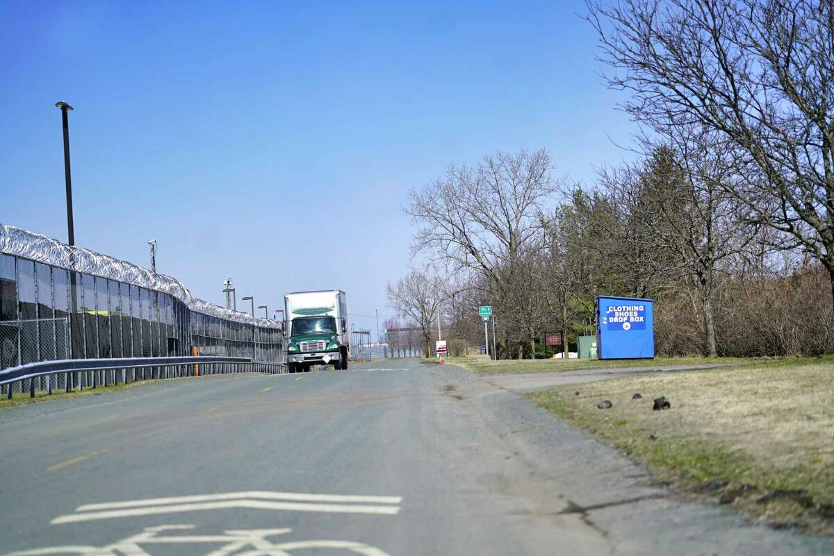 A view looking north on the East Industrial Parkway on Thursday, March 26, 2020, in Albany, N.Y. This section of the parkway is part of the South Troy Industrial Road project. (Paul Buckowski/Times Union)