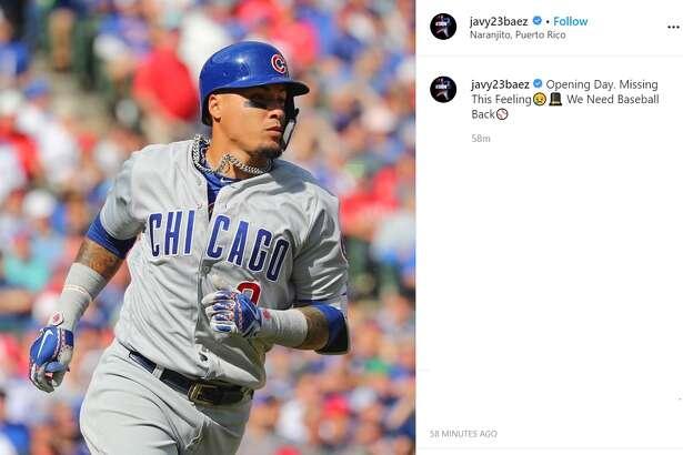 Chicago Cubs' Javier Baez.