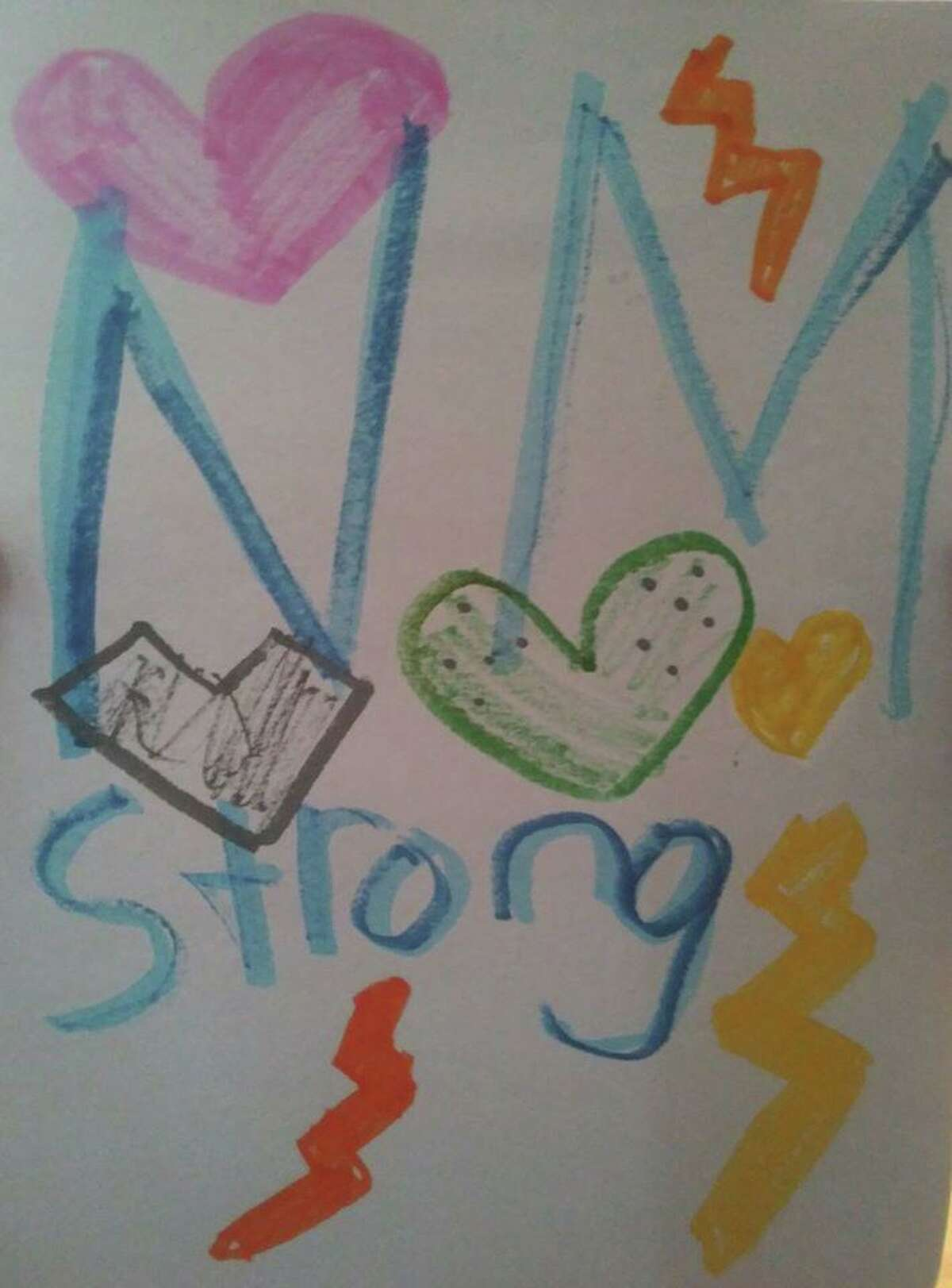 The New Milford Police Department has asked children to make posters with the message New Milford Strong to show support for first responders during the coronavirus pandemic.