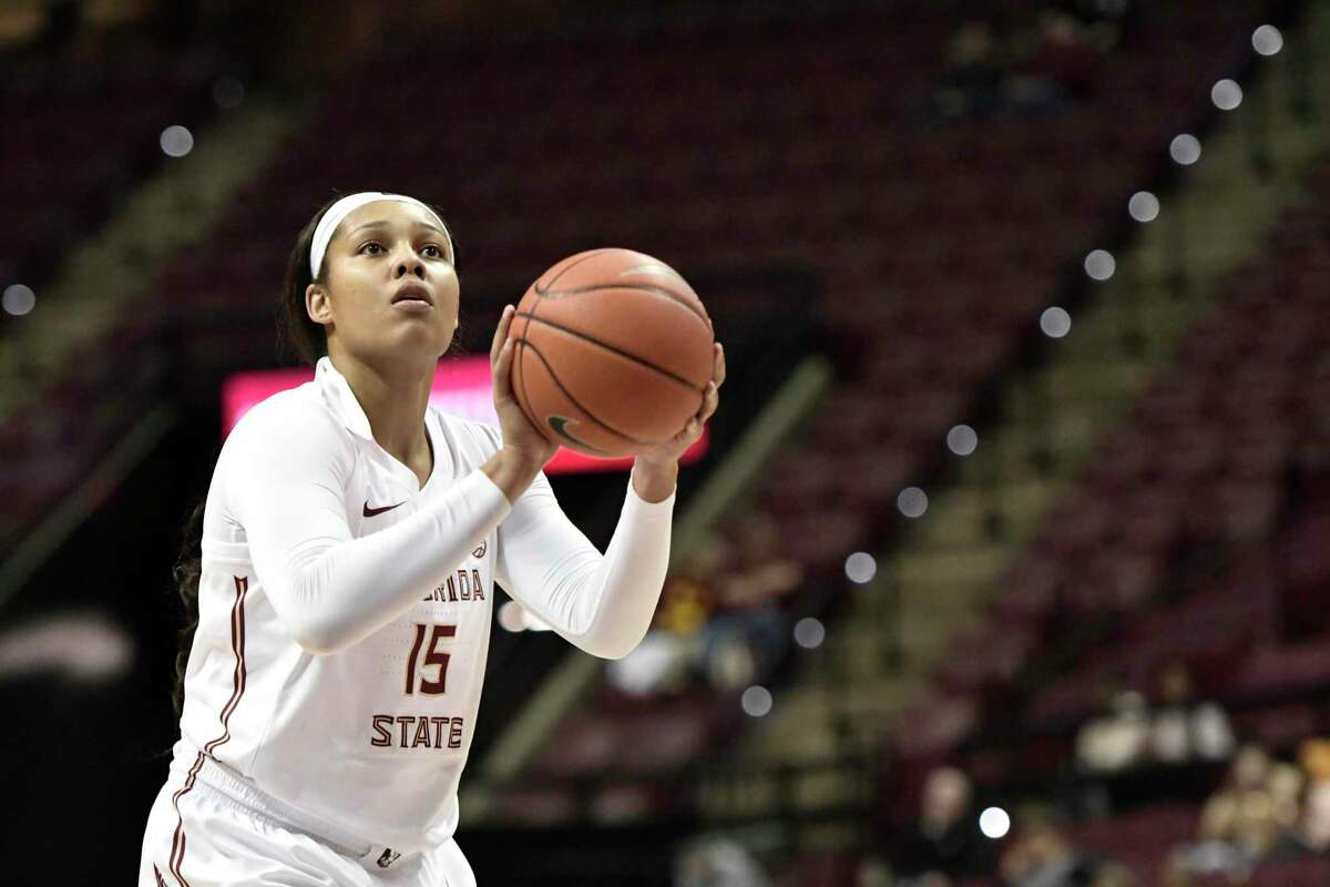 Florida State's Kiah Gillespie attempts a free throw against North Florida in December.