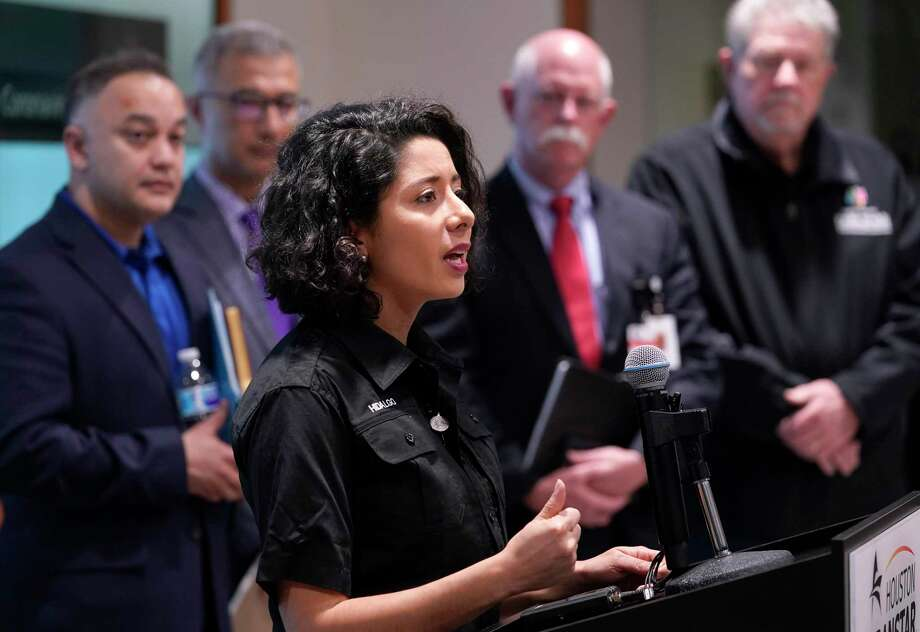 Lina Hidalgo, Harris County Judge, speaks about the coronavirus to the media at Harris County Office of Homeland Security and Emergency Management, 6922 Katy Rd., Thursday, March 5, 2020, in Houston. Photo: Melissa Phillip, Houston Chronicle / Staff Photographer / © 2020 Houston Chronicle