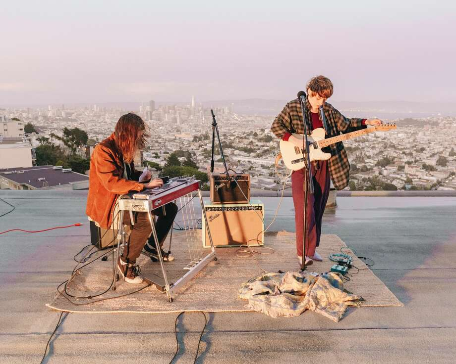 Zelma Stone performs on an apartment rooftop for Twin Peaks Sessions. Photo: Courtesy Of Twin Peaks Sessions