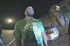 Connecticut State Police Trooper Shaquille Williams performs a field sobriety test on Monday, March 16, 2020. Seen here on body camera footage of one of the responding troopers.