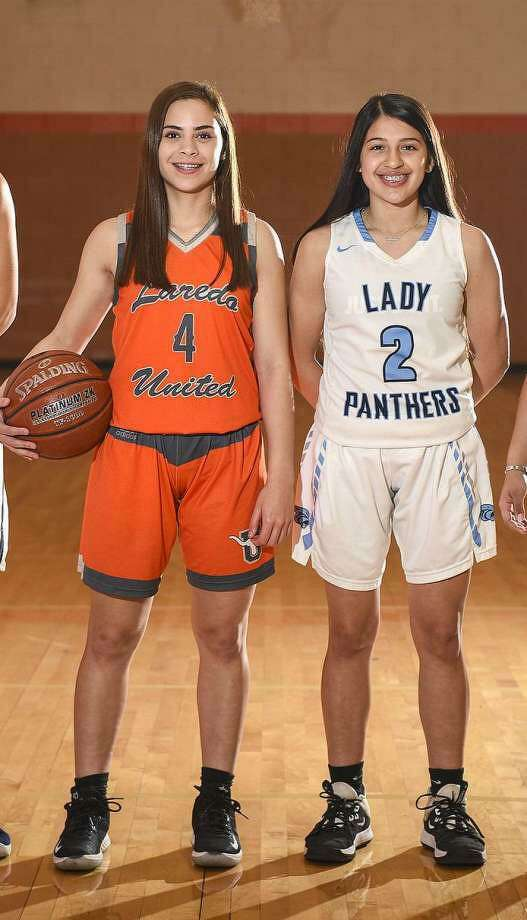 United's Evelyn Quiroz and United South's Angelina Lopez are both candidates for the VYPE South TX Girls Public School Basketball Player of the Year award. Photo: Danny Zaragoza /Laredo Morning Times File