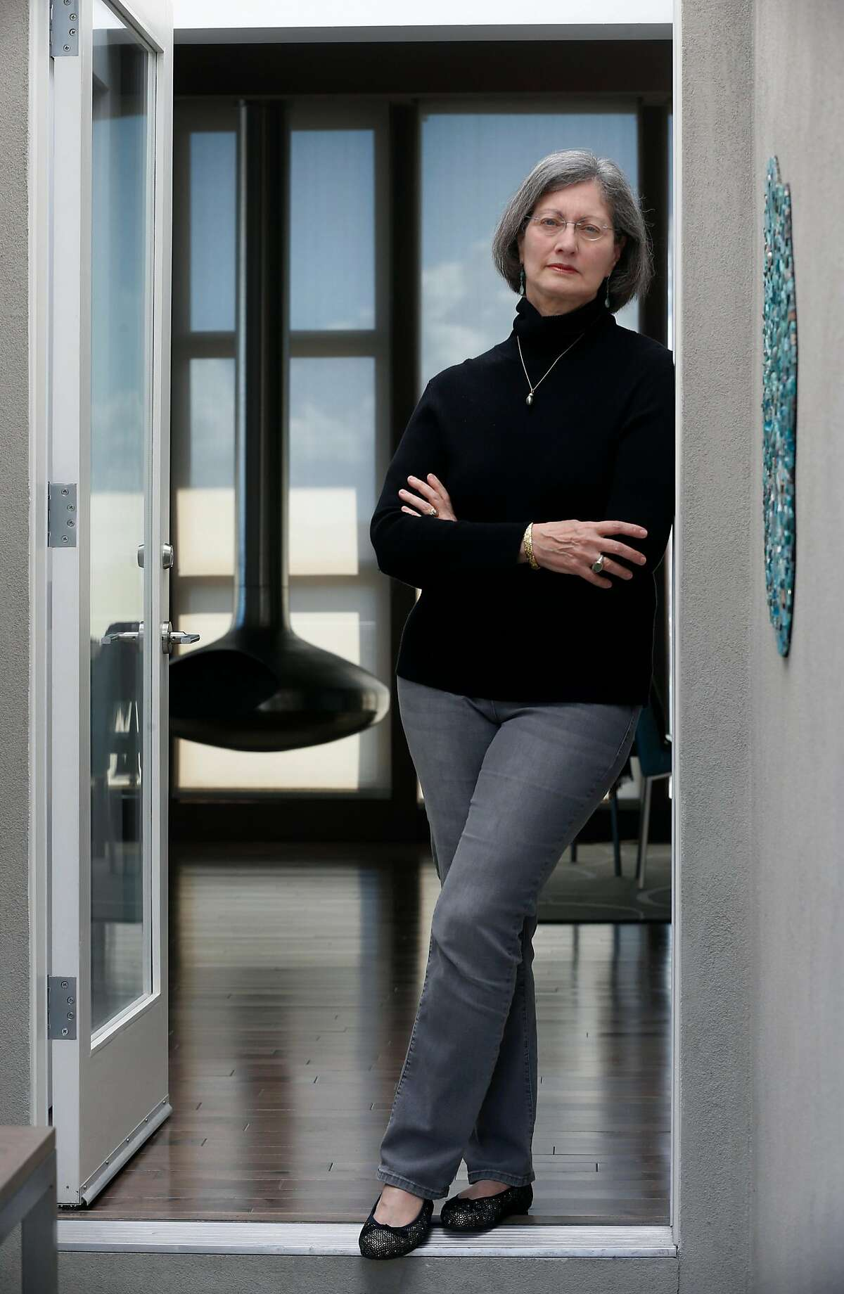 Sonia King is seen at her Sunset District home in San Francisco, Calif. on Thursday, March 26, 2020. King was frustrated after an online grocery delivery order she placed was inexplicably cancelled leaving her food supply low as the coronavirus pandemic continues.