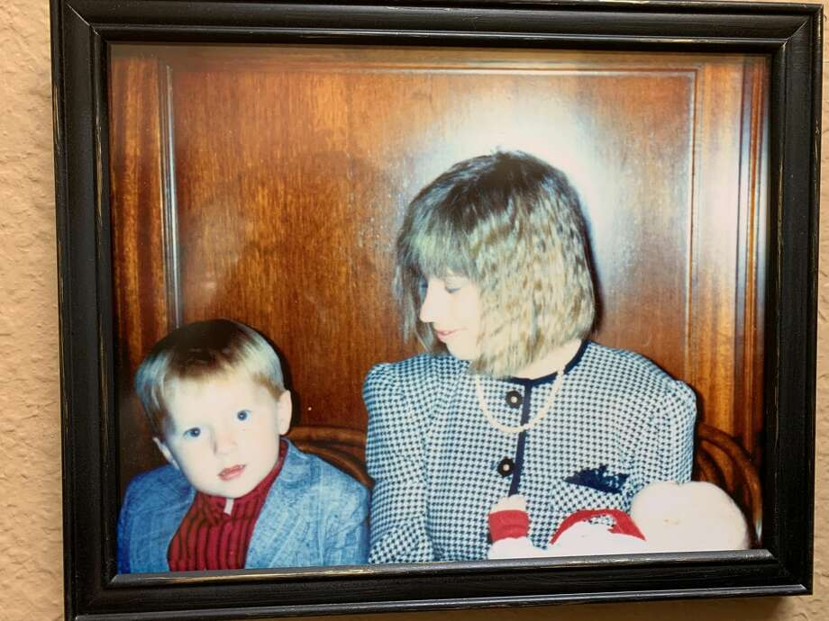 That's me on the left, my mom (Nancee Marek) on the right and my little brother (Johnny Marek) on the bottom right, sitting in a Tadich Grill booth in 1989. Photo: Courtesy Of Will Marek