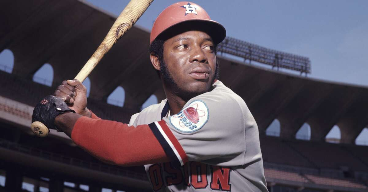 Outfielder Jimmy Wynn, of the Houston Astros, poses for a portrait prior to a game in May, 1972 against the St. Louis Cardinals in St. Louis, Missouri.