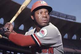 Outfielder Jimmy Wynn, of the Houston Astros, poses for a portrait prior to a game in May, 1972 against the St. Louis Cardinals in St. Louis, Missouri. (Photo by: Diamond Images/Getty Images)