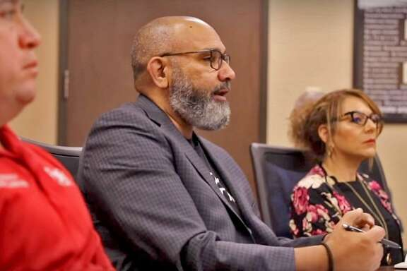 Fort Bend ISD superintendent Charles Dupre speaks to administrators in a video posted to the district website on March 22. District officials are currently finalizing plans for a new online learning program set to launch Friday, April 3.