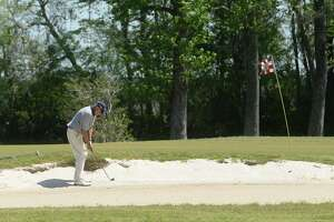 A golfer plays a solo round at Homberg Municipal Golf Course in Tyrrell Park Thursday.   Photo taken Thursday, March 26, 2020 Kim Brent/The Enterprise