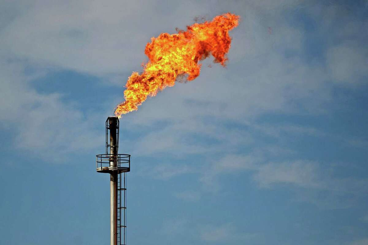 Pollution from burning excess natural gas at Permian Basin wells is expected to reach a record low in November as record low oil prices continue to take their toll on drilling and production in the West Texas shale play.
