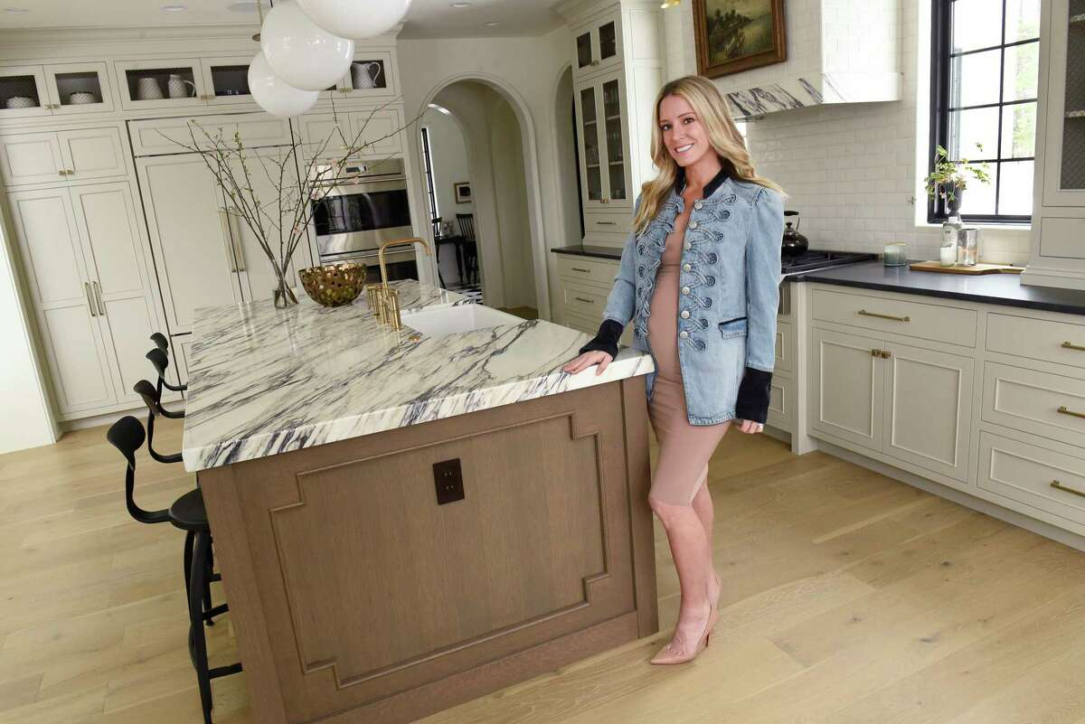 Andrea Zappone, winner of the 3rd Annual Home Design Contest, stands in her kitchen on Tuesday, March 24, 2020 in Saratoga Springs, N.Y (Lori Van Buren/Times Union)