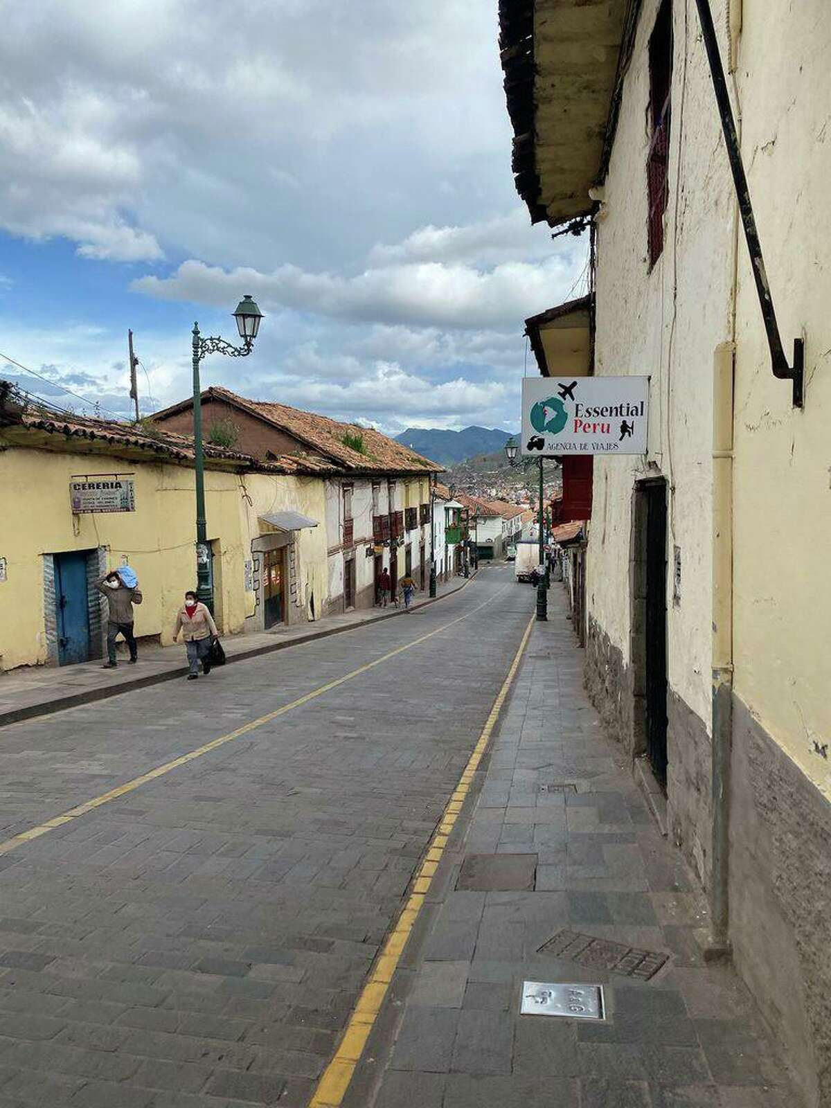 Shelton residents Amy Pavlik and Giuliana Candiotti are stuck in self-quarantine in Lima, Peru, where the streets near where they are staying are deserted.