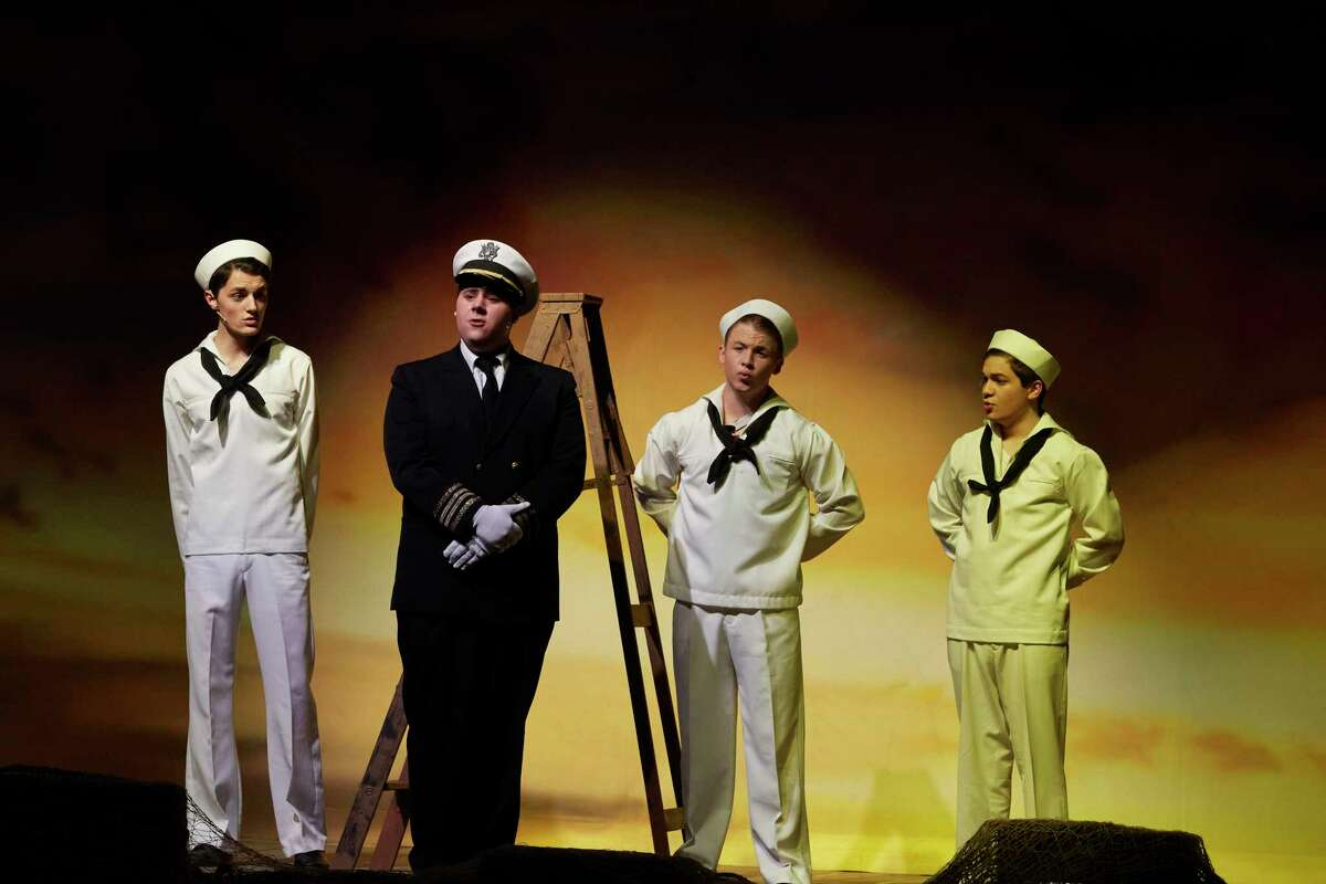 """Davian Raggio was nominated for a Tommy Tune Award for his role as the ship captain in Pearland High School's production of """"Anything Goes."""""""