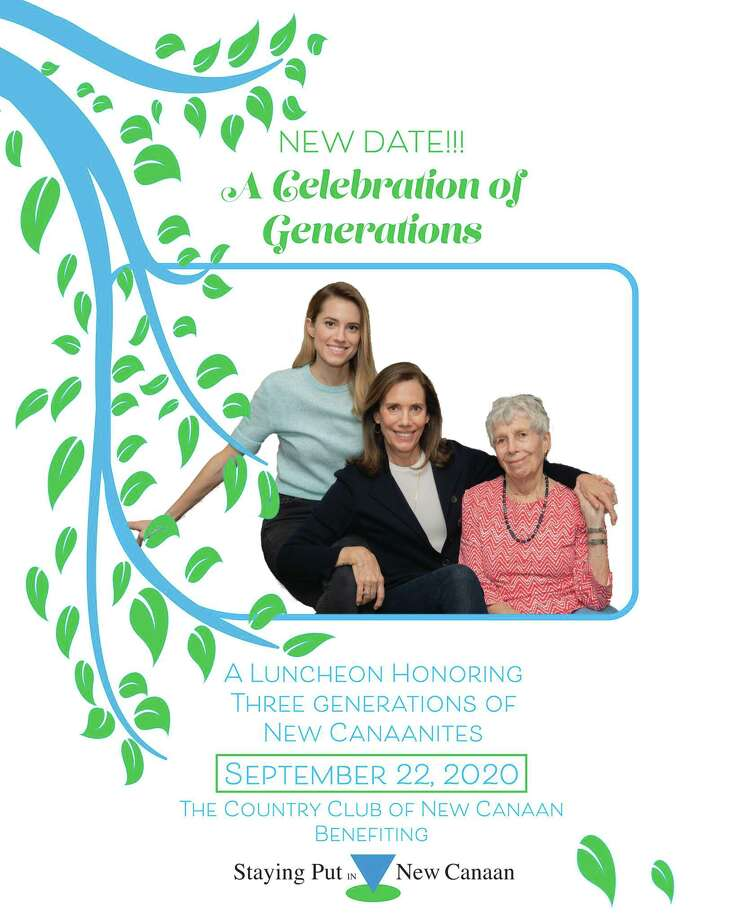 Staying Put in New Canaan's inaugural fundraising luncheon on Tuesday, September 22, 2020, will honor three generations of New Canaanites. They are Allison Williams, Jane Stoddard Williams, and Pat Stoddard. Photo: Contributed Photo
