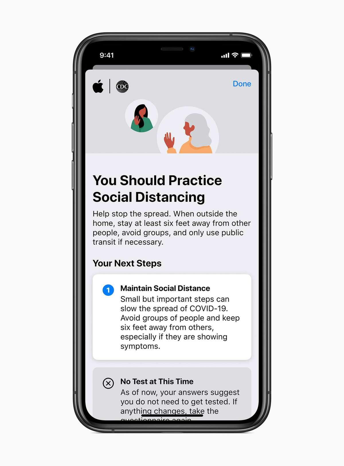 Apple has launched a free app and website that provides information about COVID-19, as well as providing basic screening for the disease.