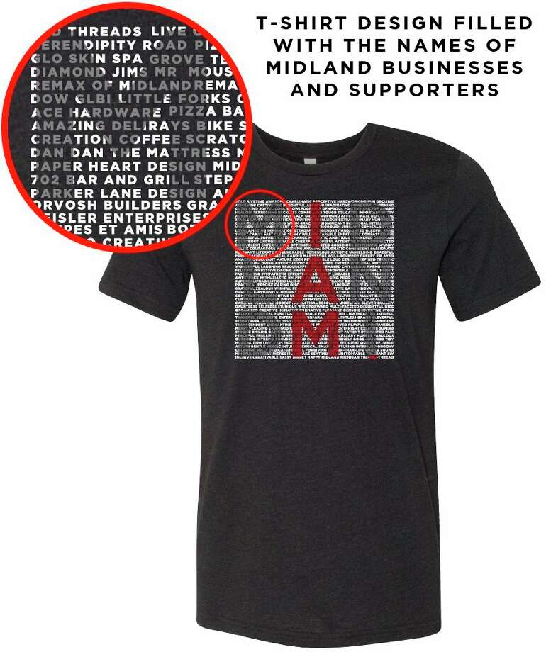 "A concept idea for the ""I Am Midland"" t-shirt from Red Threads gives an idea of what the final t-shirt design will look like. (Photo provided)"
