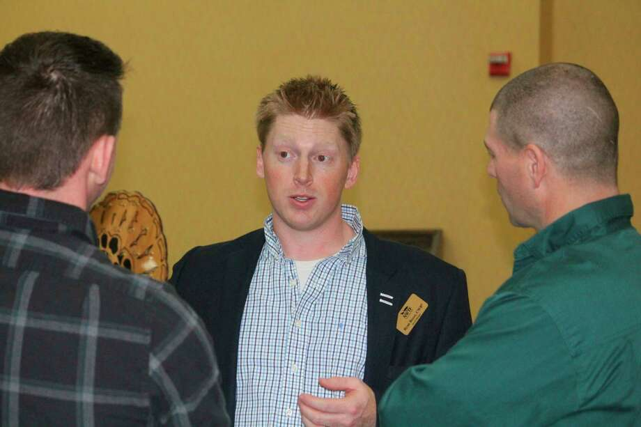 Ryan Boyer speaks during January's NWTF state convention. (Pioneer file photo/John Raffel)