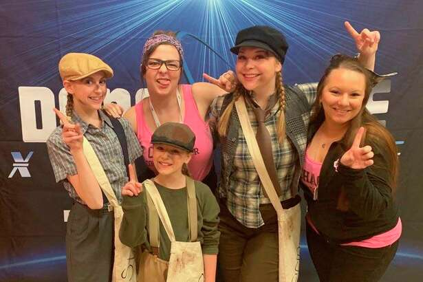 The Elite 360 Dance Company includes (front row) Makaila Lepley; (back row, from left)Maddie Snawder,co-director Natalie Schwartz, Katie Moyers, co-directorMelissa Curtiss. (Photo provided)
