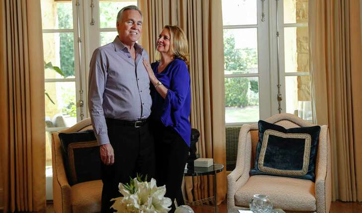 Mike and Laurel D'Antoni, shown at their home last year, took time this week to find ways to help others with a $100,000 donation to the Greater Houston Community Association and tips to help others deal with the stress of the coronavirus crisis.