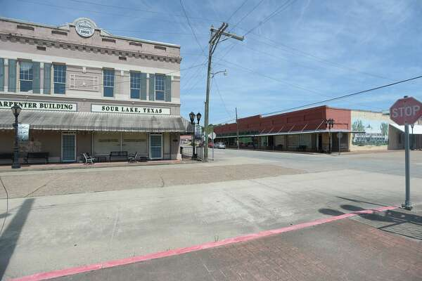 Historic downtown Sour Lake is empty as small shops are closed. Beaumont and several counties joined together in issuing shelter in place orders to help prevet the spread of COVID-19 throughout the community. Photo taken Friday, March 27, 2020 Kim Brent/The Enterprise