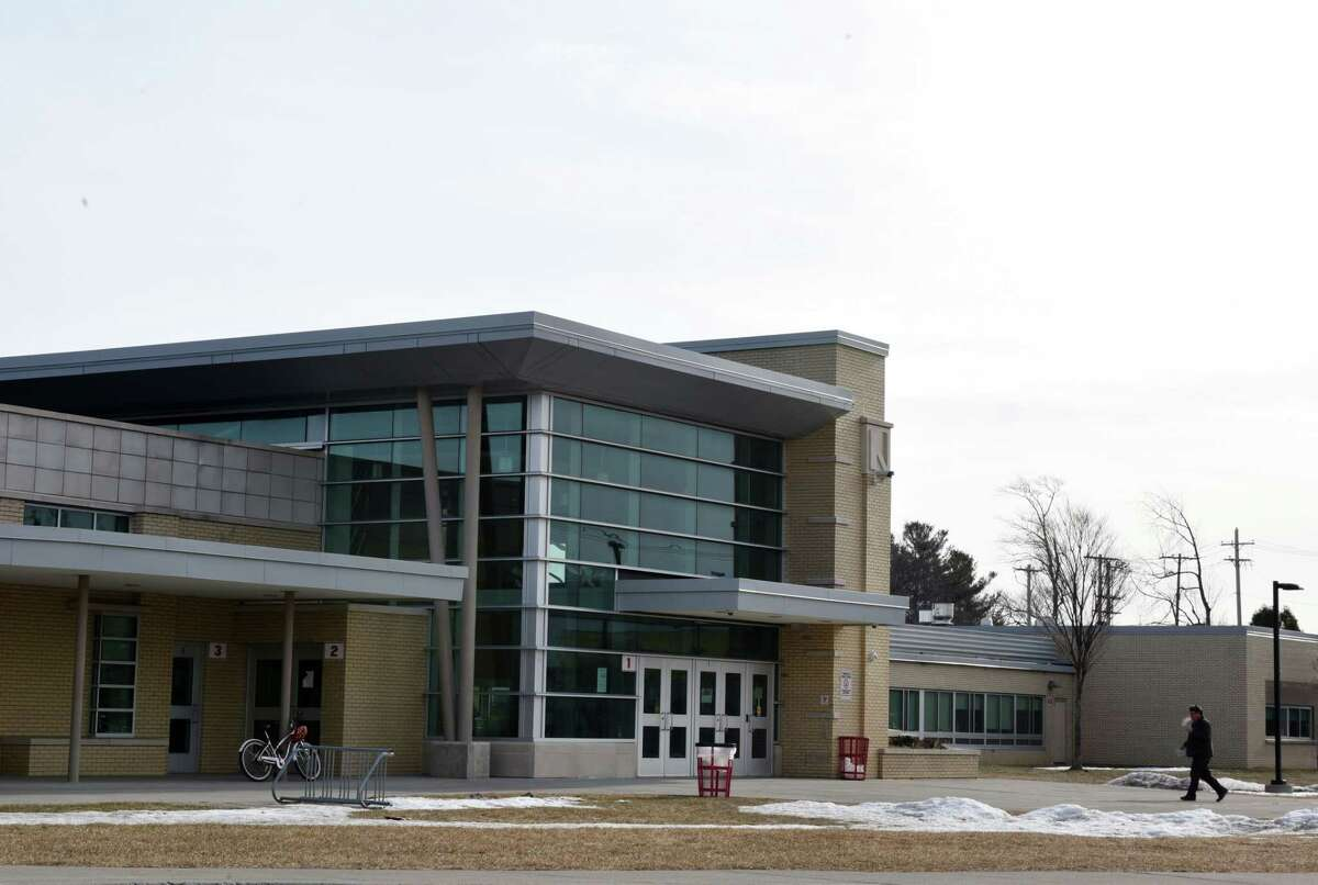 Exterior of Niskayuna High School on Monday, Feb. 11, 2019, in Niskayuna, N.Y. (Will Waldron/Times Union)