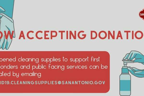 Local government is now accepting donations of unopened cleaning supplies to support San Antonio's first responders in the COVID-19 pandemic.