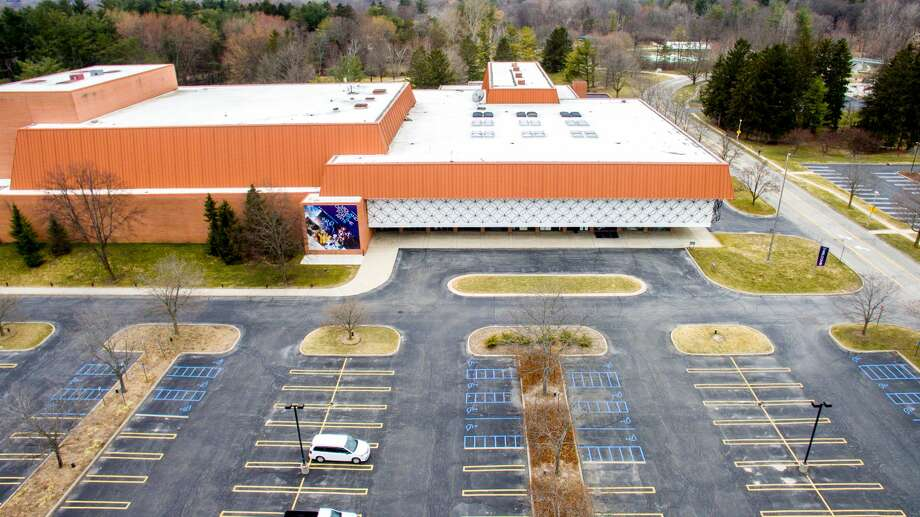 FILE — An aerial photograph shows the Midland Center for the Arts devoid of activity as many residents stay home to practice social distancing Thursday, March 26, 2020. (Adam Ferman/for the Daily News) Photo: (Adam Ferman/for The Daily News)