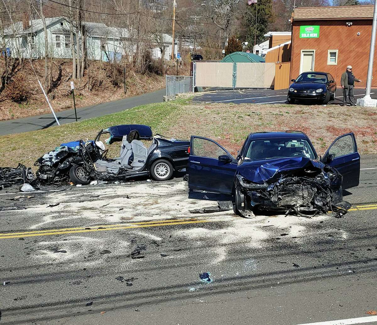 Shelton emergency crews responded to a two-vehicle, head-on collision on River Road Friday, March 27.