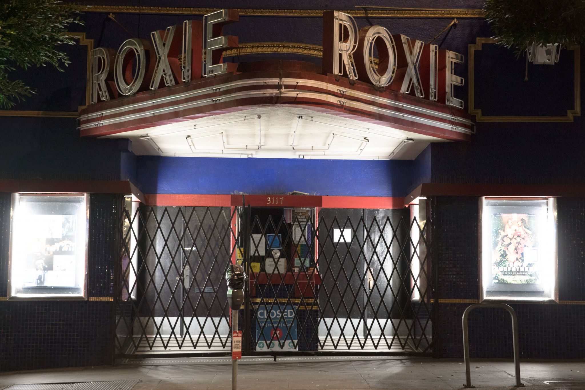 Movie theaters Status: not permitted to operate in the State of California with opening date unknown Across the state, theaters, such as the Roxie in San Francisco (pictured), are shuttered. Newsom said these can open under social-distancing guidelines in Stage 3. It has been suggested that theaters may only sell select seats to promote social distancing.