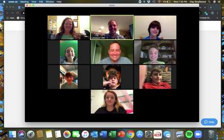 Youth from Lakewood United Methodist Church in northwest Houston use Zoom to meet on Wednesday nights.