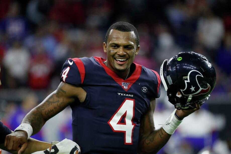 PHOTOS: Flashback to Desean Waton's first day as a Houston Texan Deshaun Watson, celebrating the Texans' win over Buffalo in the playoffs, has been helping feed first responders, nurses and restaurant workers during the coronavirus pandemic. Photo: Karen Warren, Houston Chronicle / Staff Photographer / © 2020 Houston Chronicle