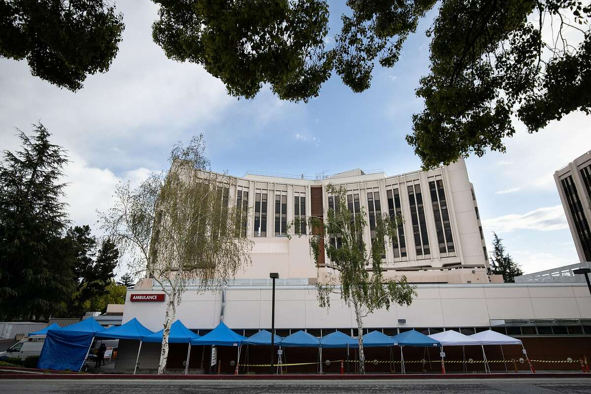 The hospital at Kaiser Permanente San Jose Medical Center is a leading treatment center for COVID-19 cases in Santa Clara County Thursday, March 26, 2020, in San Jose, Calif.