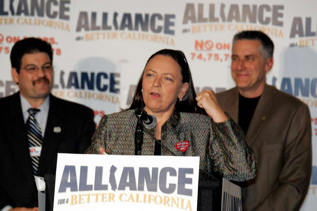 ELECTIONALLIANCE_0070.jpg_ Deborah Ann Burger from the Ca Nurses Assn address the Alliance for a Better California Tuesday night. The Alliance is the labor group opposing Gov Arnold Schwarzenegger props. They gathered at the Sacramento Sheraton Hotel to watch the results. By Lance Iversen/San Francisco Chronicle