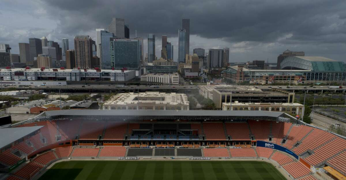 Major League Soccer suspended its season for 30 days, due to the spread of the new coronavirus. BBVA Stadium, home of the Houston Dynamo, photographed Friday, March 13, 2020, in Houston.