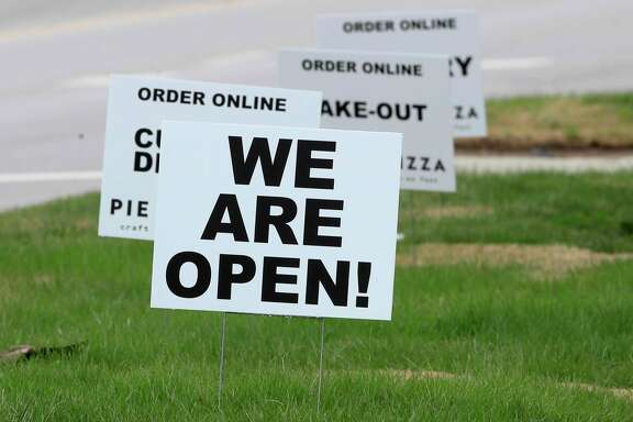 Restaurants and other businesses are staying open through delivery and take-out business only while areas across the nation are under a stay-at-home order to prevent the spread of the novel coronavirus.